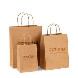 bolsas kraft, bolsas con logo, bolsaas personalizadas, bolsas ecologicas,