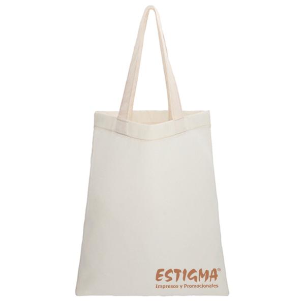 Bolsa de algodón cosida con asa, bolsa personalizada, bolsa con logo, bolsa de algodon con logo