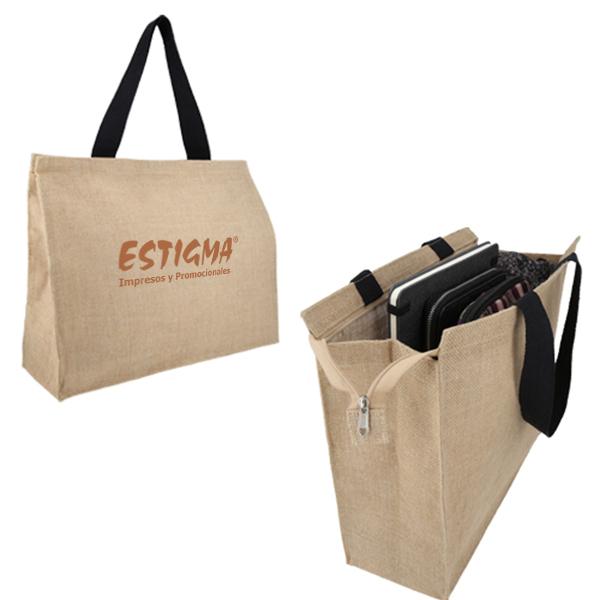 bolsaa ecologicaa, bolsa de yute impresion, promocional, bolsa personalizada