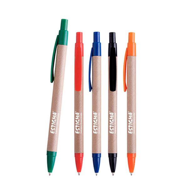 plumas ecológicas promocionales, plumas personalizadas, plumas con logotipo, bolígrafo promocional